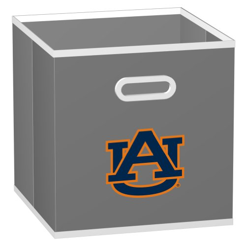 NCAA Auburn Tigers Fabric Storage Drawer, One Size, Gray ()