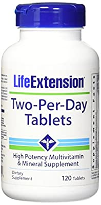 Life Extension Two Per Day Tablets, 120 Count
