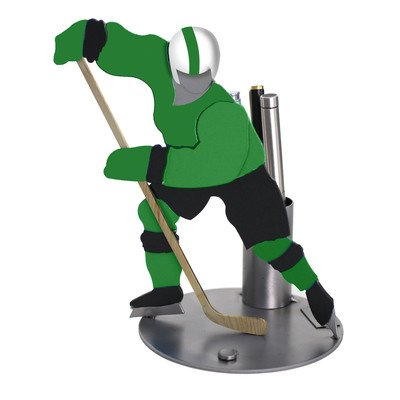 H & K SCULPTURES 6761PH Hockey Player Pen Holder with Bus...