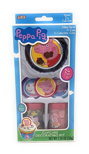 Peppa Pig Cupcake Decorating Kit ~ 24 count