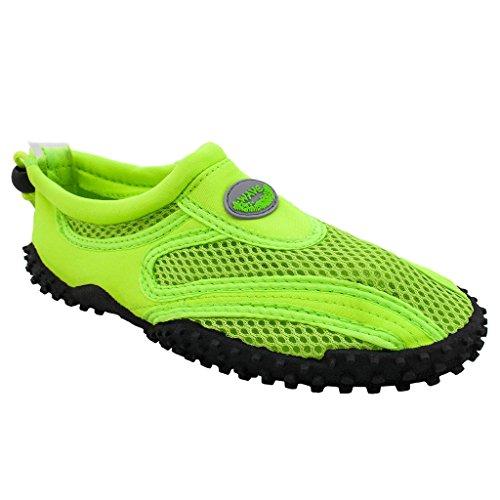 Das Wasser der Wellen-Frauen beschuht Pool-Strand-Aqua-Socken-Yoga-Übungs-Tendenzen SNJ 1155L Neongrün