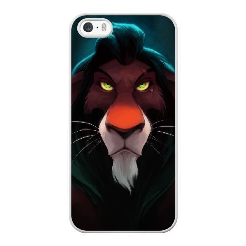 The best gift for Halloween and Christmas iPhone 5 5s Cell Phone Case White Freak badass Scar The Lion King by disney villains VIK9179372