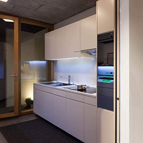 SEBSON® LED bajo mueble 80cm, Tiras de luz con enchufe e interruptor, blanco neutro 4000K, 4W Equivale de 25W, 1000 Lumen, 230V, IP20, 24x13x800mm: Amazon.es: Iluminación