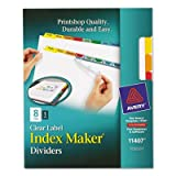 Index Maker White Dividers, Multicolor 8-Tab, Letter, Sold as 1 Set, 25PACK , Total 25 Set