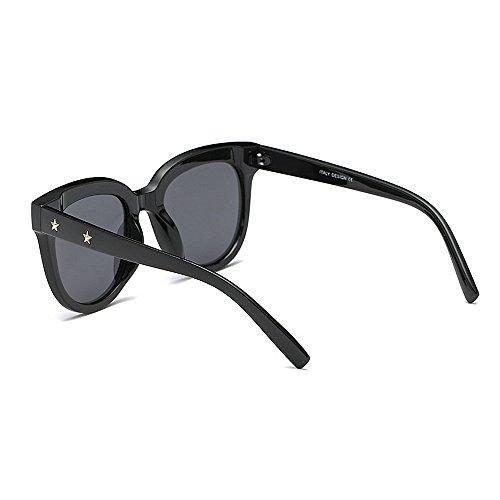 Personalidad Marco Unisex Gaf Rivet Gafas borde conducir Star de irrompible polarizadas Hombre mujer Viajar Para UV negro Protección de Gafas Eyewear Classic sol con Retro para de sol Gafas Lady's Negro sol dqTznd