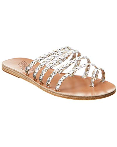 - Ancient Greek Sandals Niki Braids Metallic Leather Sandal, 39, Metallic