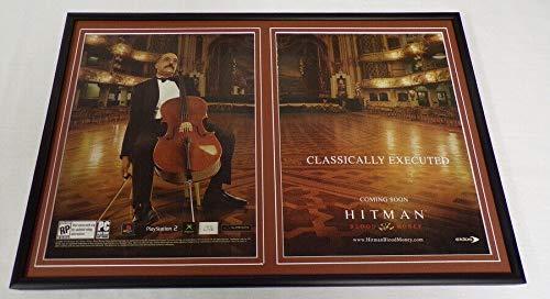 Hitman Blood Money 2006 PS2 XBox Framed 12x18 ORIGINAL Advertising Display (Hitman Original Xbox)