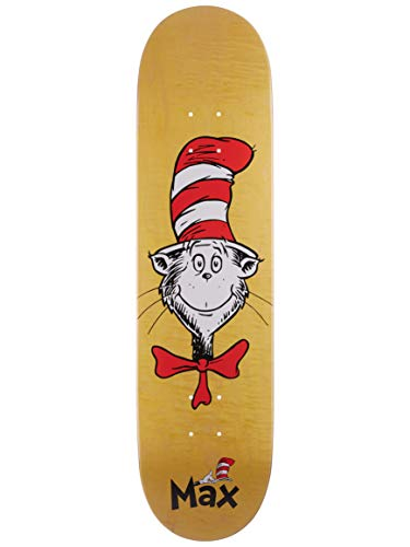 (Almost Skateboard Deck Dr. Seuss Cat in The Hat Face Geronzi 8.0