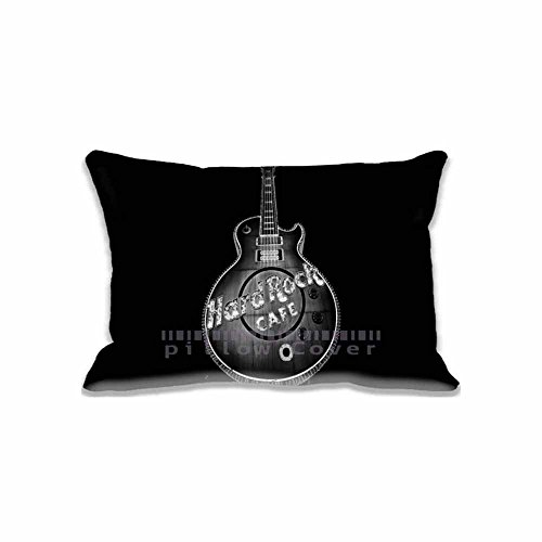 Standard Size Home Decor Rectangle Hard Rock Cafe, Las Vegas Latest Pillow Case Cushion Cover 16