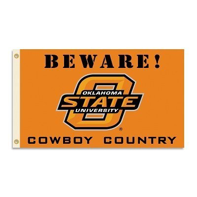 Oklahoma State Cowboys BEWARE Country 3 x 5 Flagge von Patch Collection