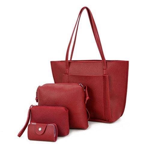 Funie - Bolso mochila para mujer, negro (Negro) - H206P07FC19ZL1ROG8I rojo vino