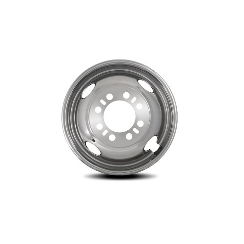 Pacific Dualies 38-2608 16'' Stainless Steel Wheel Simulator Front Tag-Axle Kit for 1974 -2000 Chevy GMC 3500, 1974-1998 Ford F350/E350/E450, 1974-1999  Dodge 3500 Truck Van RV