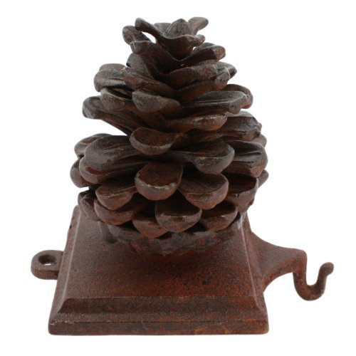 Cast Iron Pinecone - Cast Iron Pinecone Christmas Stocking Holder - Rust by HomArt