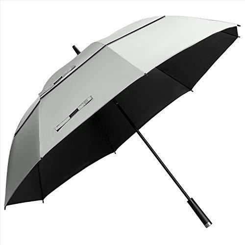 G4Free 68 inch UV Protection Golf Umbrella Extra Large Windproof Sun and Rain Umbrellas Auto Open Double Canopy