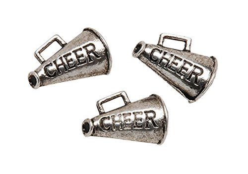 Metal Charms: Silver Cheer 8/Pkg -