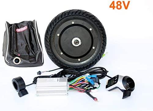 L-faster Kit de conversión de Scooter eléctrico de 350 vatios Acelerador de Pulgar del Panel LCD con Freno de Pulgar EBS Kit de Motor de Eje sin ...