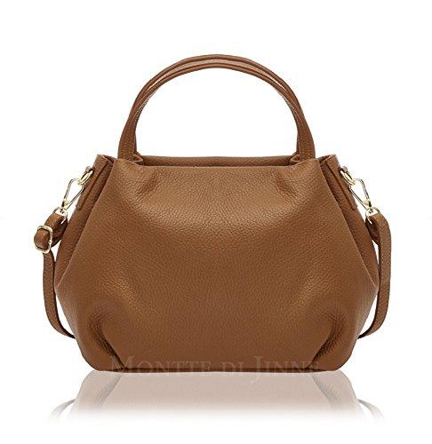 Montte Di Jinne - Italian Leather Women's Bucket Shoulder/ Cross Body Bag Tan