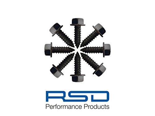 License Plate Screw (License Plate Screws for Domestic Cars & Trucks (Black Zinc Plated) - RSD Performance Steel Fasteners (Black Zinc Plated))