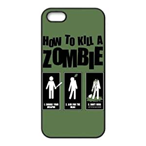 Jumphigh Zombie Vampire iPhone 5,5S Cases Kill Zombie Funny Poster For Girls Protective, Phone Case For Iphone 5s For Girls Protective [Black]