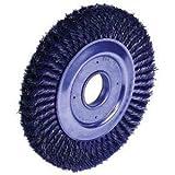 Weiler 804-09430 Dualife Wide Face Standard Twist Knot Wire Wheel, 8'' Diameter x 1'' Width, 2'', 0.016'', 6000 rpm