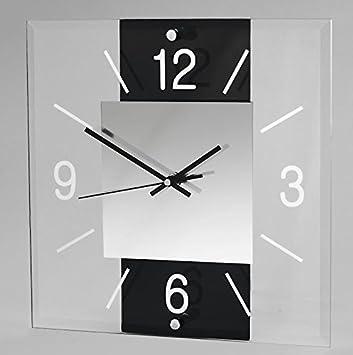 Dekojohnson Moderne Design Wanduhr Aus Glas Für Wohnzimmer U0026 Küche Im  Eckigen Avant Design (30x30