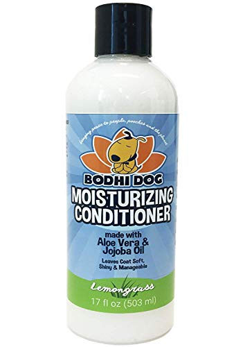 New Natural Moisturizing Dog Conditioner | Conditioning for Dogs, Cats and More | Soothing Aloe Vera & Jojoba Oil | Professional Grade Treatment - Made in The USA - 1 Bottle 17oz (503ml) (Lemongrass)
