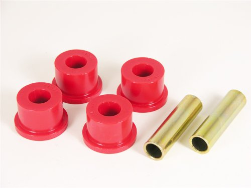 Prothane 1-804 Red Rear Frame Shackle Bushing Kit ()