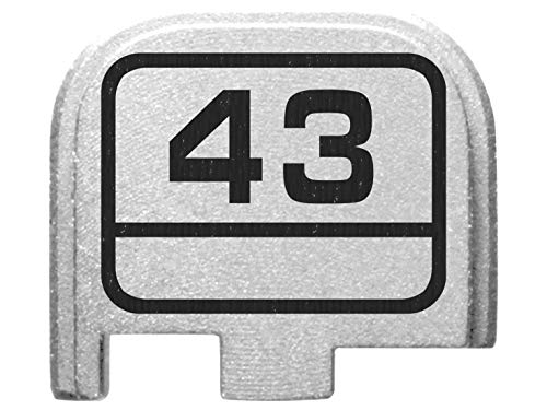for Glock Back Plate 43 G43 9mm ONLY Silver NDZ - G 43 Model Logo