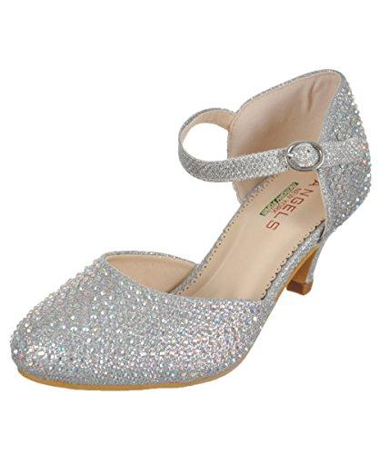 Angels GirlsGems & Glitter Pumps Silver