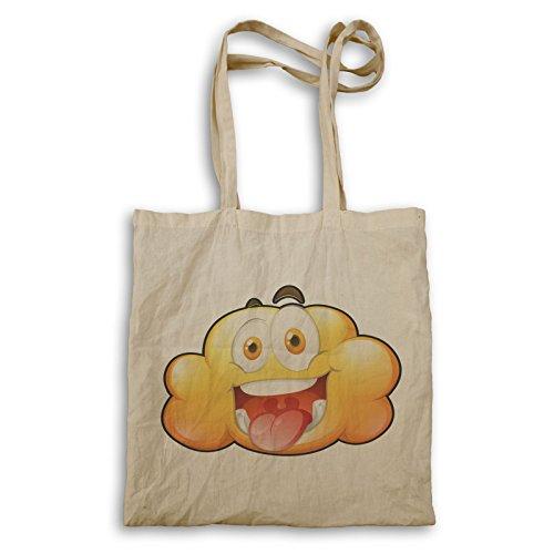 Gelbe Wolken Smiley Spaß Tragetasche u499r