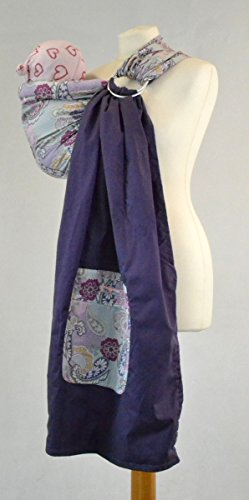 Palm and Pond Adjustable Ring Sling Baby Carrier - Purple Paisley