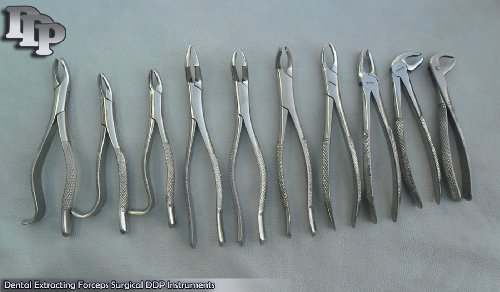 Amazon Com 10 Pieces Of Extracting Forceps Extraction Dental Surgical Ddp Instruments Industrial Scientific