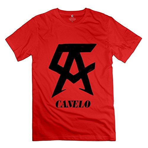 Men's WBC Boxer Canelo Alvarez Logo Tees Size XL Red