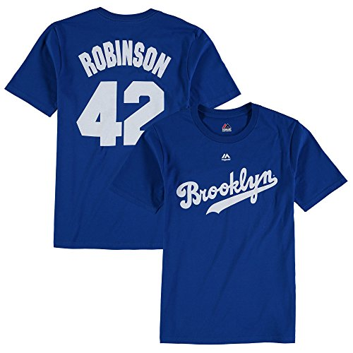 Jackie Robinson Brooklyn Dodgers MLB Youth Name & Number Player T-shirt #42 (Youth Large 14/16)