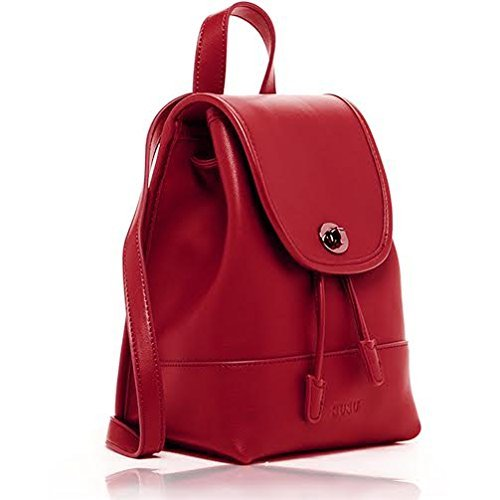 Purse Designer Backpack 4 Small Nicole The Leather For iPad Fits Woman Colors SUSU Backpacks Mini Red xAgqXIx