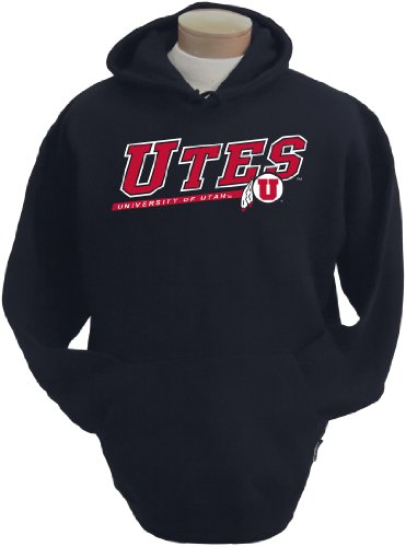 NCAA Men's Utah Utes Zooey Hooded Sweatshirt (Black, -