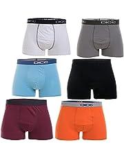 Solid Boxer for Men,Set of 6 -Multi Color