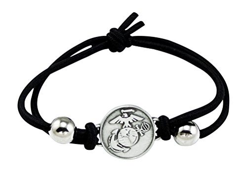 United States Marine Corps Charm Adjustable Bracelet (United States Gifts)