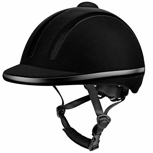 Tontron Equestrian Helmet (Black, Small)