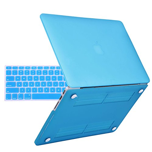 """UPC 608729449058, HDE MacBook Pro 13 Inch Retina Case Hard Shell Cover Rubberized Soft Touch Plastic with Silicone Keyboard Skin Fits Mac Notebook 13"""" with Retina Display (No CD Drive) Model A1425 and A1502 (Teal)"""