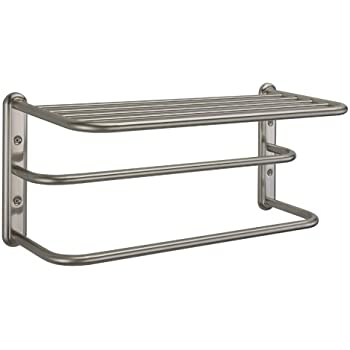 Gatco 1541sn 10 Inch By 20 Inch Towel Rack Satin Nickel