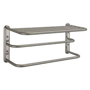 gatco 1541sn 10 inch by 20 inch towel rack satin nickel. Black Bedroom Furniture Sets. Home Design Ideas