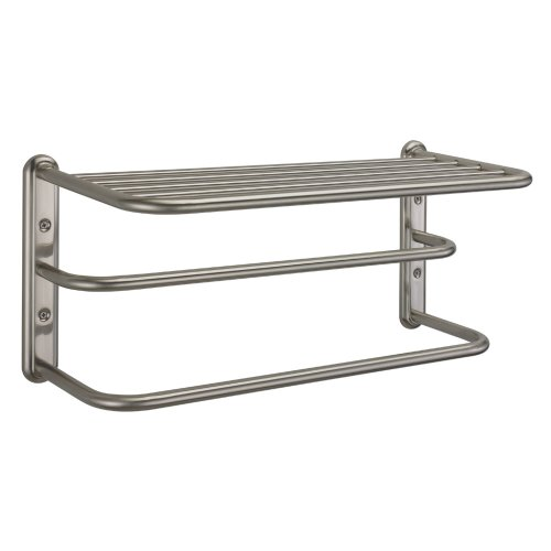Gatco 1541SN 10-Inch by 20-Inch Towel Rack, Satin Nickel ()