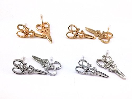 yueton Scissors Earrings Jewelry Piercing