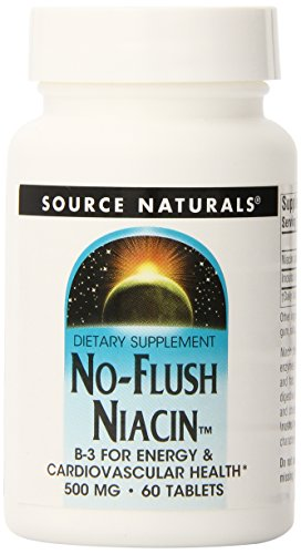- Source Naturals No-Flush Niacin, 500mg, 60 Tablets (Pack of 3)