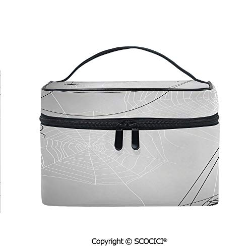 Printed Durable Portable Travel Cosmetic Bags Spiders Hanging