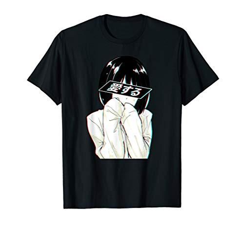 Sad Anime Girl Shirt   Trashy Waifu Clothing   Anime Girl
