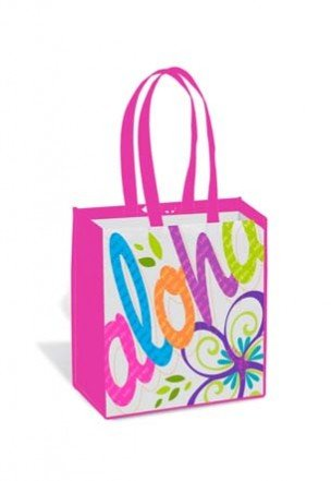 Hawaii Bag (Hawaiian Bold Aloha Pink Island Tote Bag)