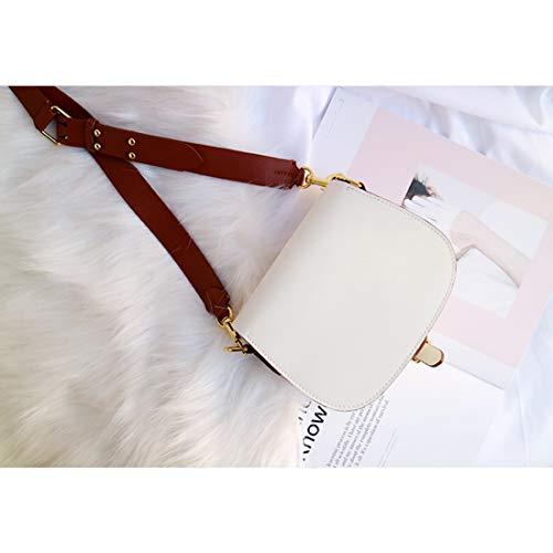 Grande Tracolla Da Pelle In Alla Bovina A Borsa Kervinzhang Korea Bianco Capacità Donna Moda Pink qRZYn