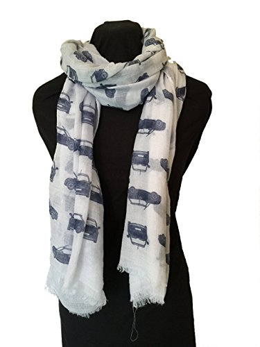 pamper-yourself-now-womens-mini-cooper-car-design-scarf-long-scarf-185cm-x-95cm-white-with-blue